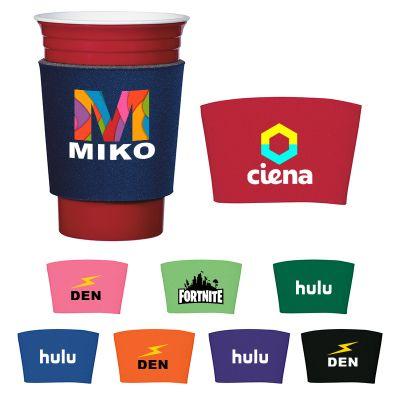 Logo Imprinted Comfort Grip Cup Sleeve - 10 Colors