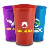 22 Oz Custom Printed Translucent Stadium Cups