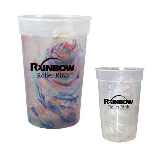 17 Oz Rainbow Confetti Mood Cups