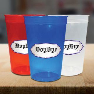 Personalized 16 Oz Jewel Stadium Cups