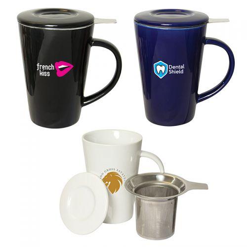 Oslo Tea Infuser Ceramic Mugs
