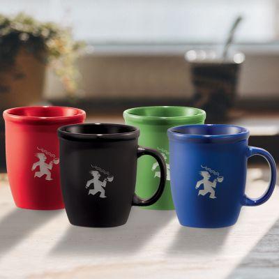 Imprinted 12 Oz Cafe Au Lait Ceramic Mugs