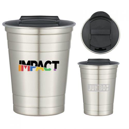 Custom Printed 16 Oz Single Wall Stainless Steel Cups
