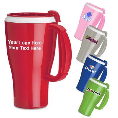 16 Oz Promotional Omega Mugs with Slider Lid