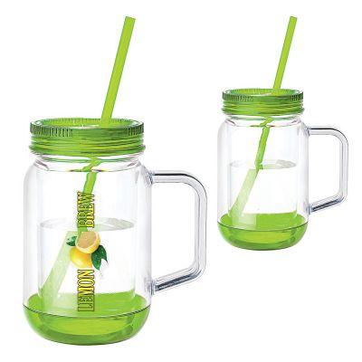 Promotional Moonshine 17 Oz Handled Mason Jar Mugs