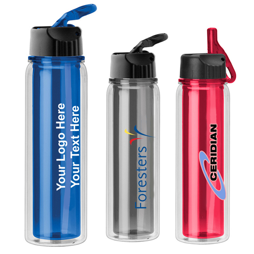 17 Oz Logo Imprinted Double Wall Water Bottles