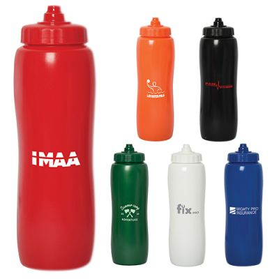 33 Oz Custom Printed Valais Squeeze Plastic Bottles