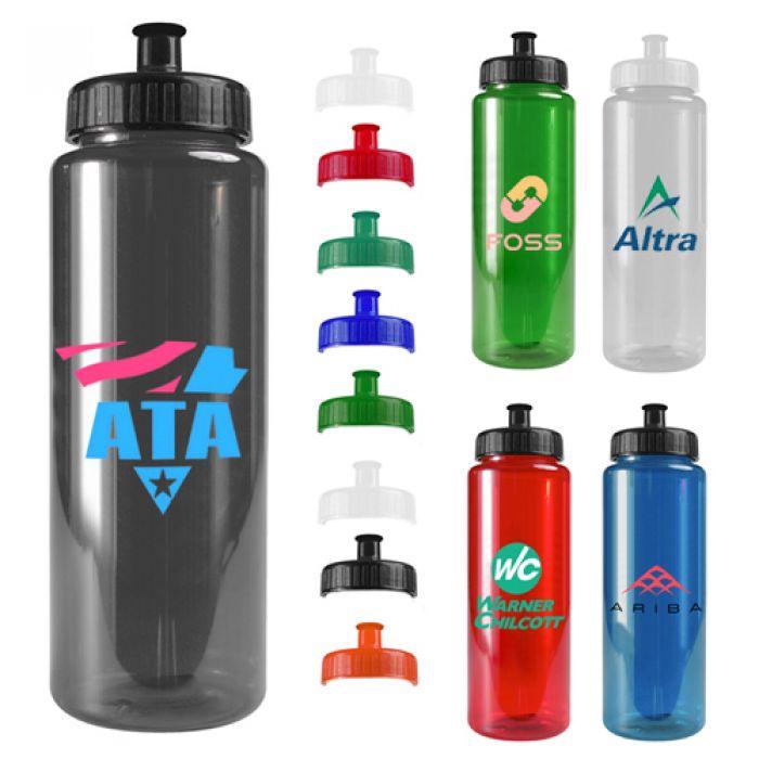 32 Oz Transparent Color Bottles