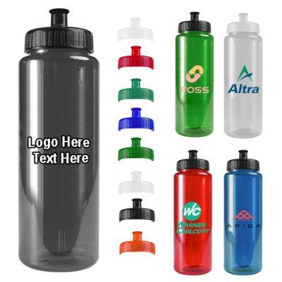 Custom Printed 32 Oz Transparent Color Bottles