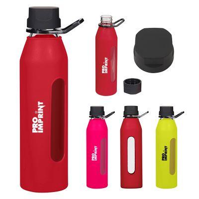 24 Oz Promotional Synergy Glass Sports Bottles