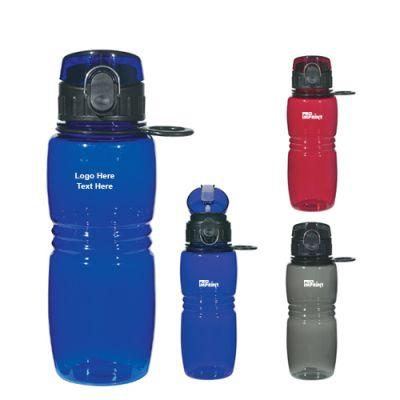 Custom Printed 18 Oz Tritan Bottle with Pop Up Lid