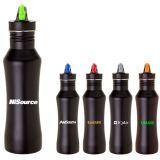 Custom Printed 24 Oz Stainless Steel Bottles with Matte Black Finish