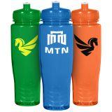 28 Oz Custom Printed Poly-Clean Plastic Bottles