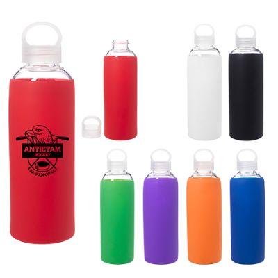 Customized 18 Oz Dartmouth Glass Bottles Imprinted  Blank  Sample