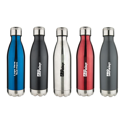 17 Oz Stainless Steel Cola Shaped Bottles
