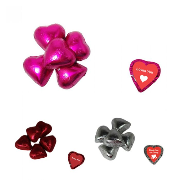 Individually Wrapped Chocolate Hearts