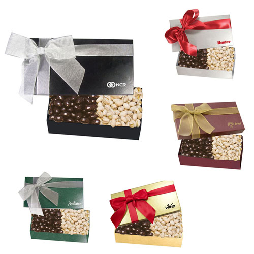 Promotional Executive Gift Box with Chocolate Almonds Pistachios