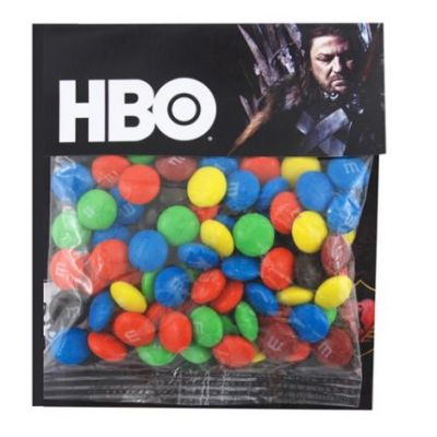 Promotional Large Cello Bags with M & M`s Candy
