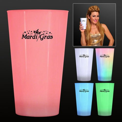 Custom Printed LED Glow Cup Drinking Glasses