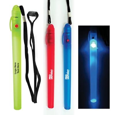 Custom Flash N Glow Sticks with Lanyard