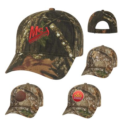 Custom Imprinted Realtree® and Mossy Oak® Hunter's Retreat Camouflage Caps