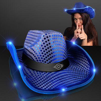 Shiny Cowboy Hats with Light Brim