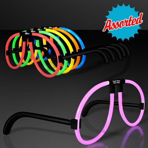 Assorted Neon Glow Glasses