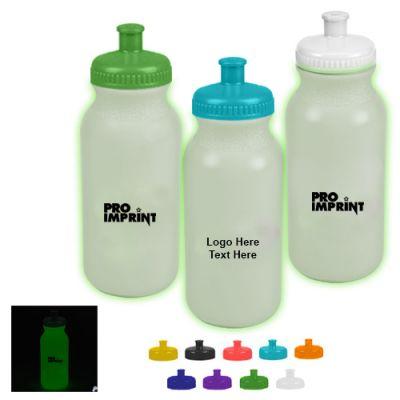 Promotional 20 Oz Glow-In-The-Dark Sports Bottles