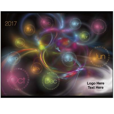 Promotional Logo Contemporary Glow In The Dark Calendar