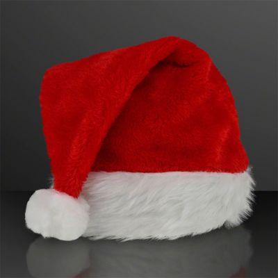 Fuzzy Soft Red Non-Light Up Santa Hats