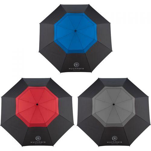 Vented Auto Open Fiberglass Folding Golf Umbrellas