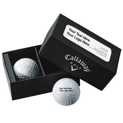 Custom Printed Super Soft Callaway 2-Ball Business Card Box