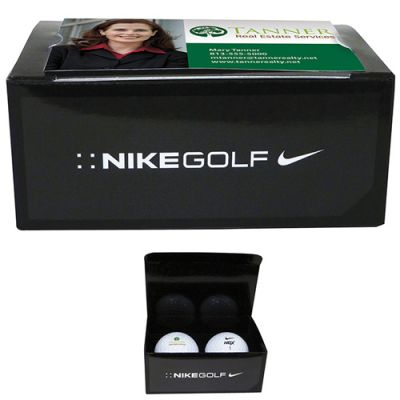 Promotional Nike 2-Ball Business Card Box