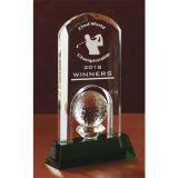 Custom Printed Crystal Made Green Golf Awards