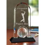 Logo Imprinted Hole In One Crystal Golf Awards