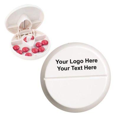 Promotional Logo Compact Pill Cutter / Dispensers