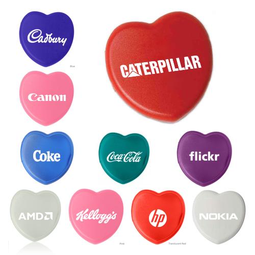 custom imprinted heart shaped pill box