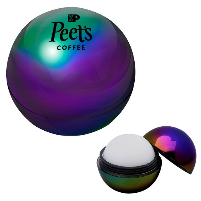 Custom Imprinted Metallic Rainbow Lip Moisturizer Balls