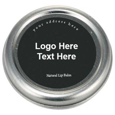Personalized All-Natural Vanilla Flavored Lip Balm Tin