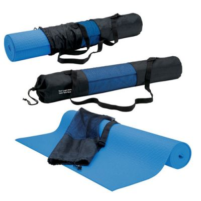 Customized non toxic PVC yoga mat and mesh carry bag