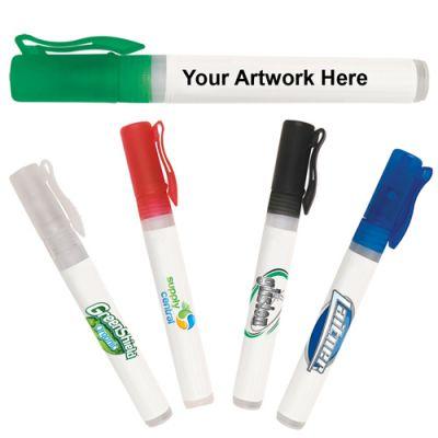 0.33 Oz Promotional Hand Sanitizer Spray - 5 Colors