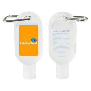 1 Oz Custom Imprinted Hand Sanitizer Gels with Carabiner