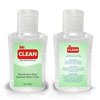 Promotional 2 Oz Rinse Free Hand Sanitizer Gels