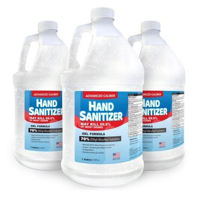 Advanced 1 Gallon Caliber Gel Hand Sanitizer Bottles