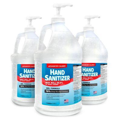 Advanced 1 Gallon Caliber Gel Hand Sanitizer Bottles with Pump