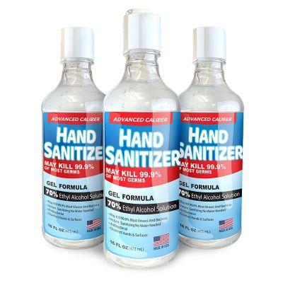 16 Oz Advanced Caliber Antibacterial Gel Hand Sanitizers