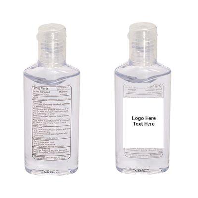 Custom Printed 1 Oz Hand Sanitizer in Oval Shaped Bottles