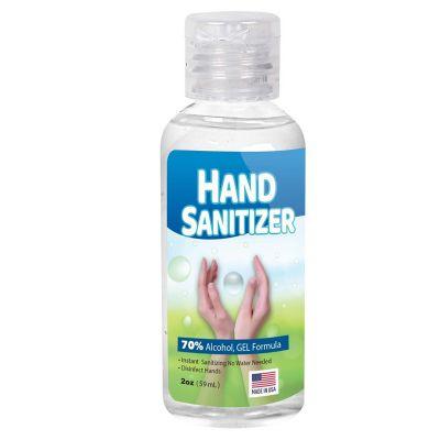 Custom Printed 2 Oz Gel Hand Sanitizer Bottles