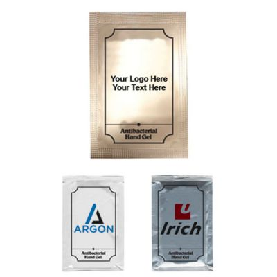 Custom Printed Anti-bac Hand Gel Large Packets