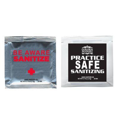 Printed Sanitizer Gel Packets